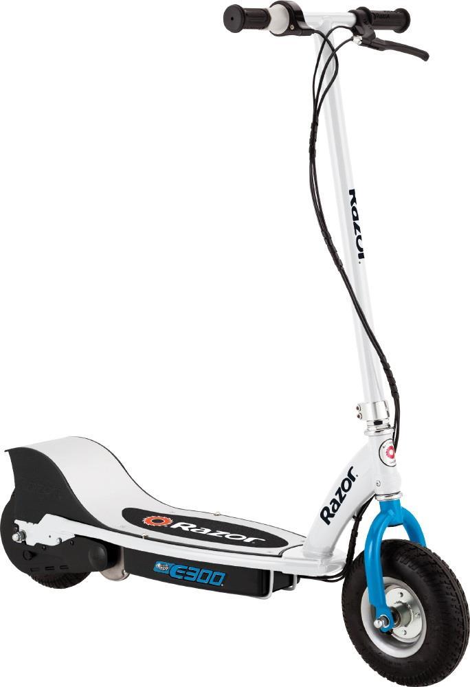 Razor E300 Electric Scooter - White/Blue Elektriskie skuteri un līdzsvara dēļi