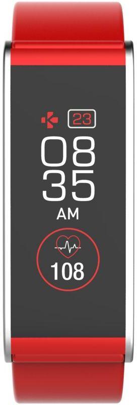 MyKronoz Smartwatch  Zefit4 HR 80 mAh, Touchscreen, Bluetooth, Heart rate monitor, Red/ silver, Activity tracker with smart notifications, Viedais pulkstenis, smartwatch