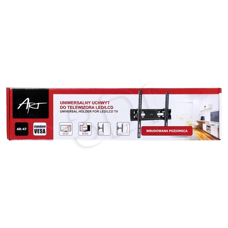 ART Holder AR-47 23-55'' for LCD/LED/PLAZMA black 40KG vertical adjustment TV stiprinājums