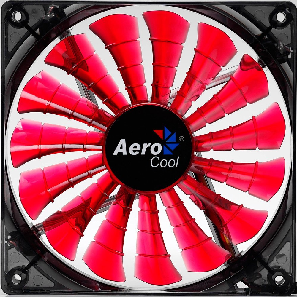 Aerocool Shark Devil Red Edition LED Lufter - 140mm ventilators