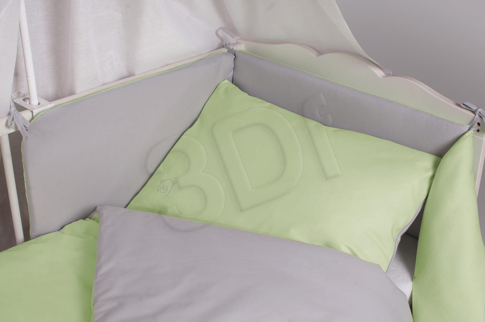 Bed linen Matex  TDOBW2-52 (135x100 cm, 40x60 cm; gray color, green color) TDOBW2-52 Gultas veļa