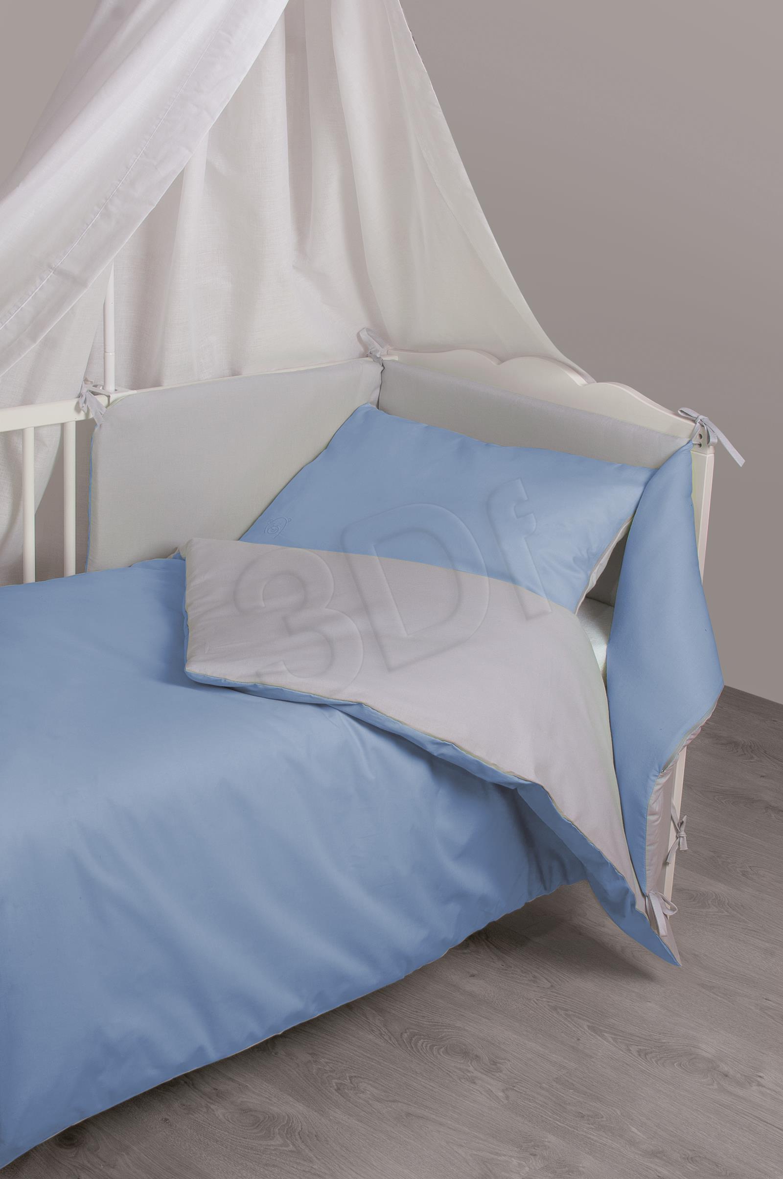 Bed linen Matex TDOBW2-24 (135x100 cm, 40x60 cm; blue color, gray color) TDOBW2-24 Gultas veļa