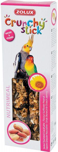 Zolux Crunchy Stick duze papugi slonecznik/orzech ziemny 115 g 1105142
