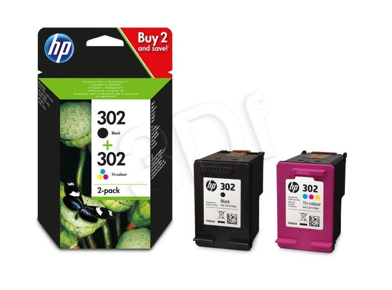 Hewlett-Packard Toner Ink/302 Cart Combo 2-Pack (X4D37AE) kārtridžs