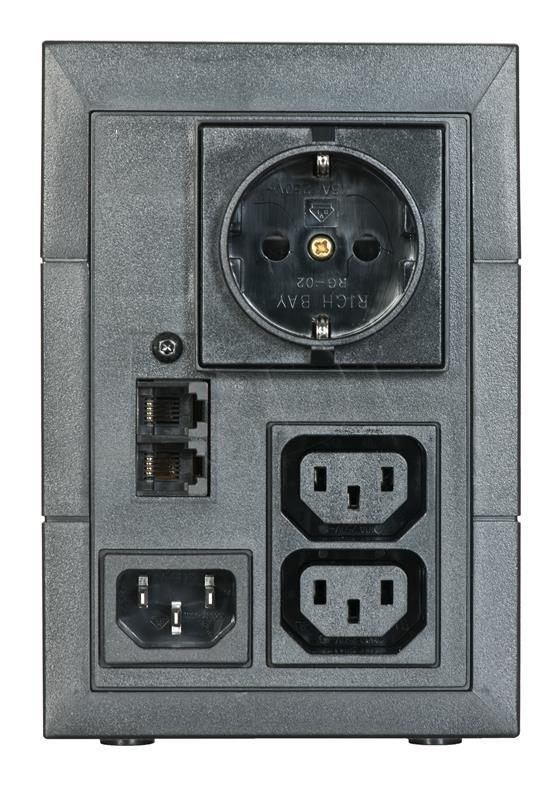 Eaton 5E 850VA/480W line-interactive, 1 Schuko (DIN) + 2 IEC C13 (10A) nepārtrauktas barošanas avots UPS