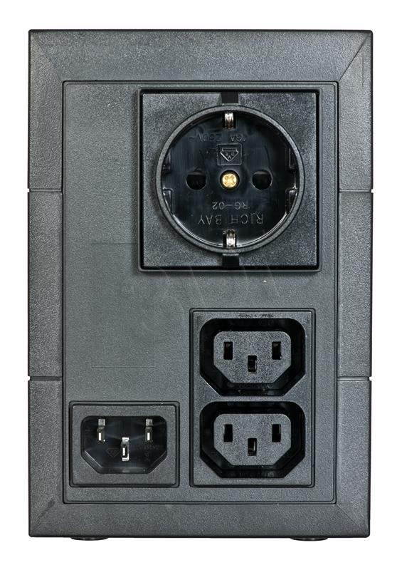Eaton 5E 650VA/360W line-interactive, 1 Schuko (DIN) + 2 IEC C13 (10A) nepārtrauktas barošanas avots UPS