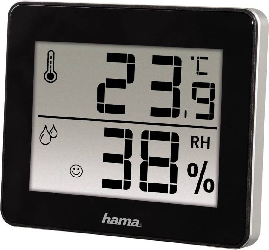 Laika stacija Hama Termometr/Higrometr TH-130 Melns (001362610000) barometrs, termometrs