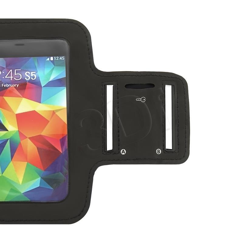 Qoltec Sports Armband for smartphone max.5'' black soma foto, video aksesuāriem