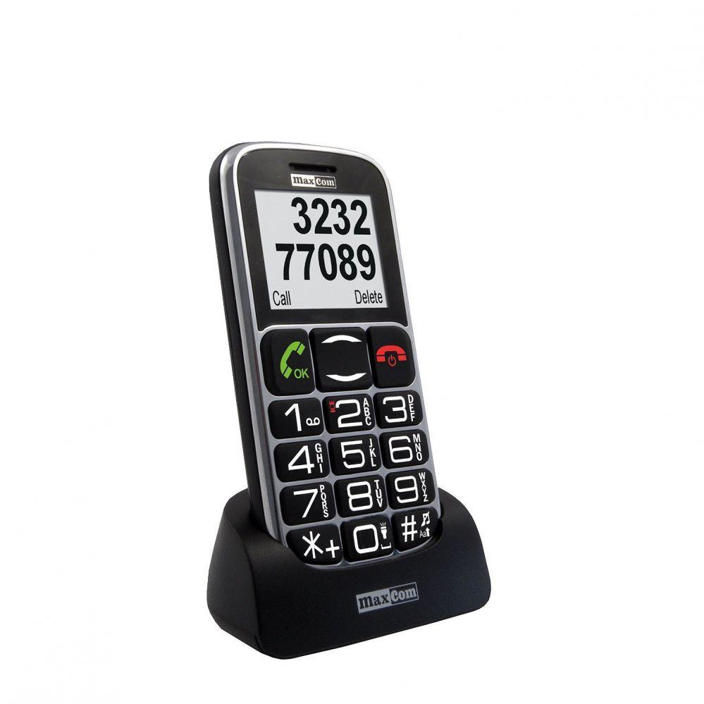 MaxCom MM461BB LV/ENG  Black Mobilais Telefons