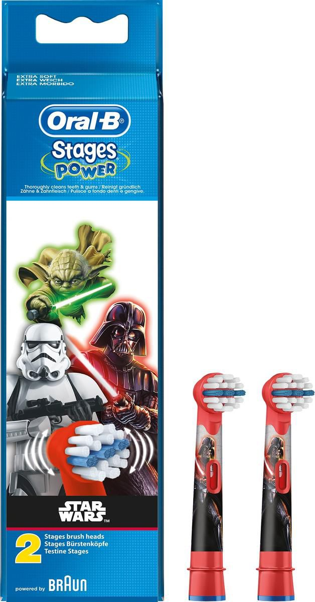 Braun Oral-B Toothbrush heads StarWars Twin pack mutes higiēnai