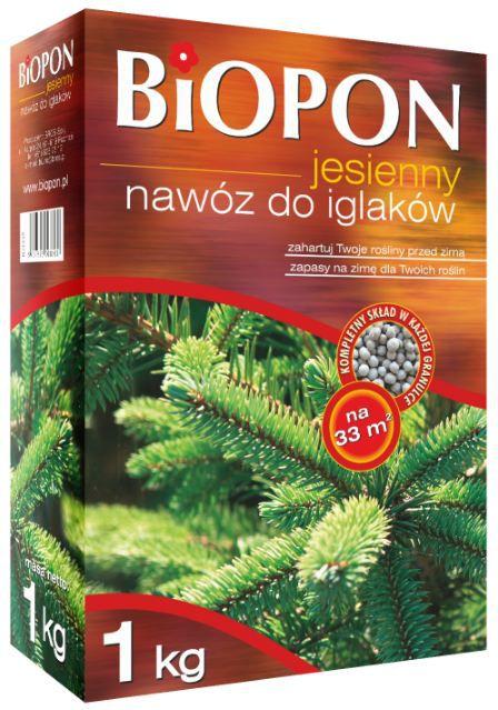 BIOPON Nawoz jesienny do iglakow karton 1kg (1078) BR BIO-1078
