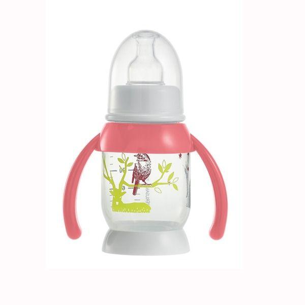 Beaba Butelka antykolkowa z uchwytem rozowa 120ml (911572) 911572 aksesuāri bērniem