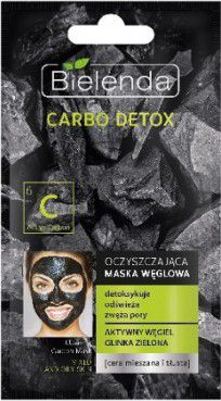 Bielenda Carbo Detox Cleansing carbon mask for mixed and oily skin 8g kosmētika ķermenim