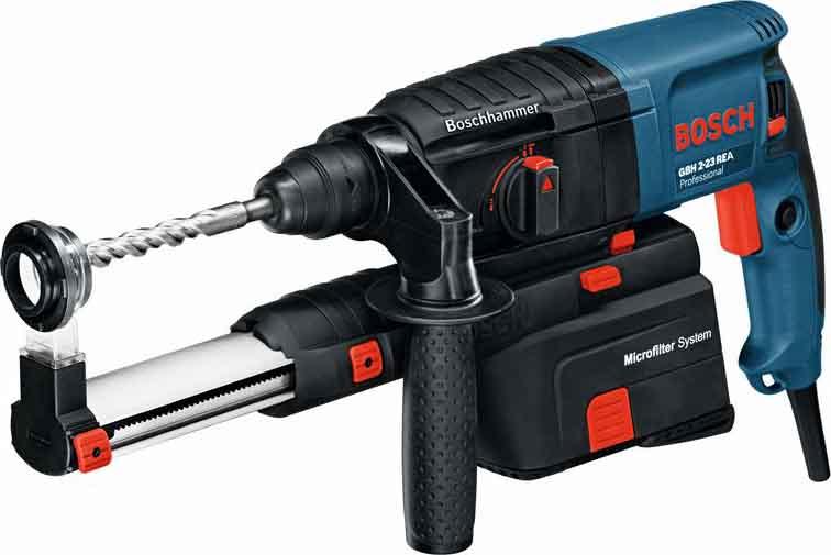 Bosch Mlot udarowo-obrotowy GBH 2-23 REA Professional z odsysaniem pylu (0.611.250.500) 0611250500
