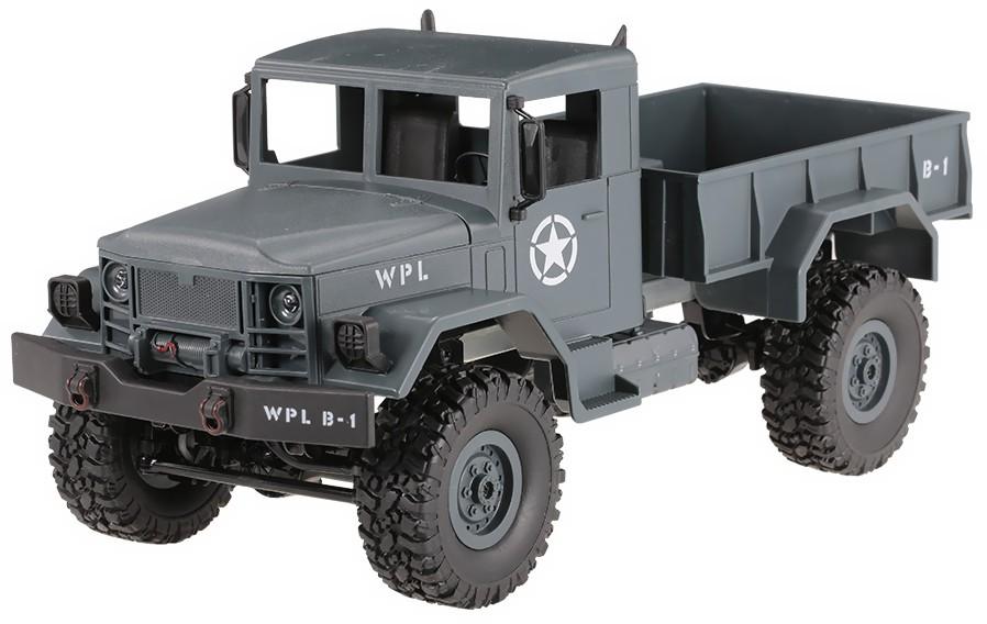 Army Truck WPL B-14 1:16 4x4 2.4GHz RTR - Blue Radiovadāmā rotaļlieta