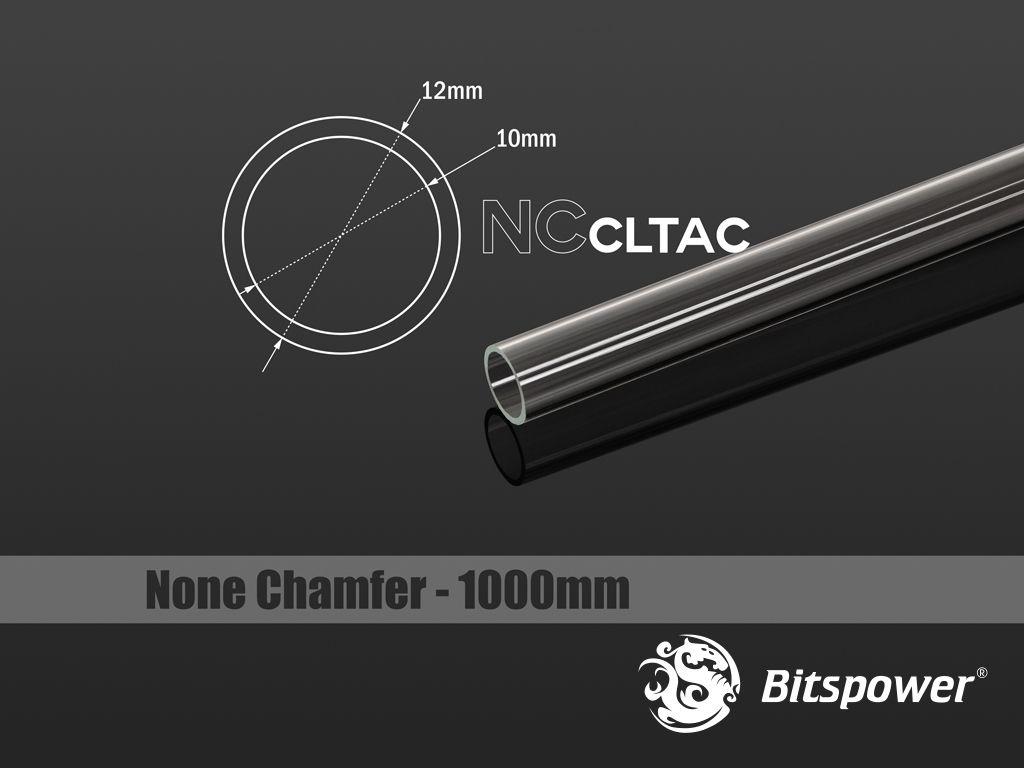 Bitspower Crystal Link Tube 12/10mm, Lange 1000mm - transparent ūdens dzesēšanas sistēmas piederumi