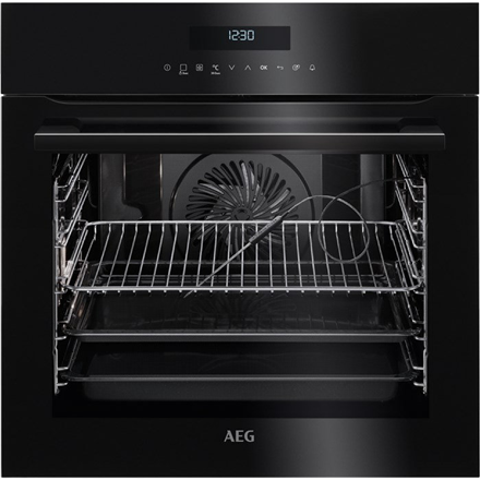 AEG Oven BPE742320B 71 L, Black, Pyrolysis, A+, Electronic, Height 59.4 cm, Width 59.5 cm, Built-in Cepeškrāsns