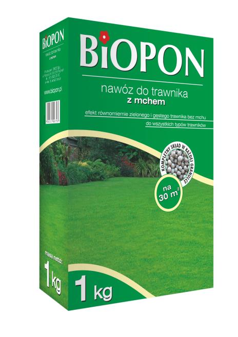 BIOPON Nawoz do trawnika z mchem 1kg (1049) B1049