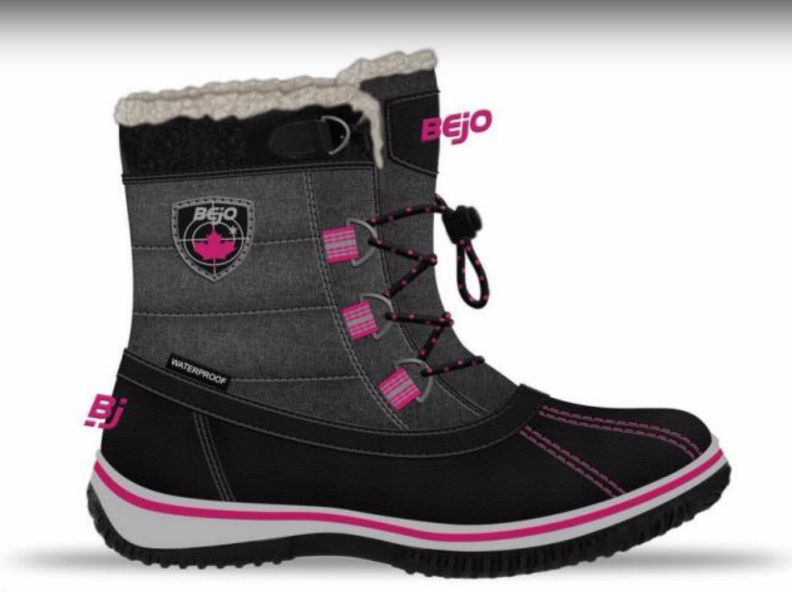 BEJO Buty Dzieciece Nairi Jr Black/Dark Grey/Fuchsia r. 32 5902786082643