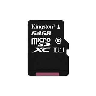 Kingston 64GB microSDXC Canvas Select 80R CL10 UHS-I Single Pack w/o Adapter atmiņas karte