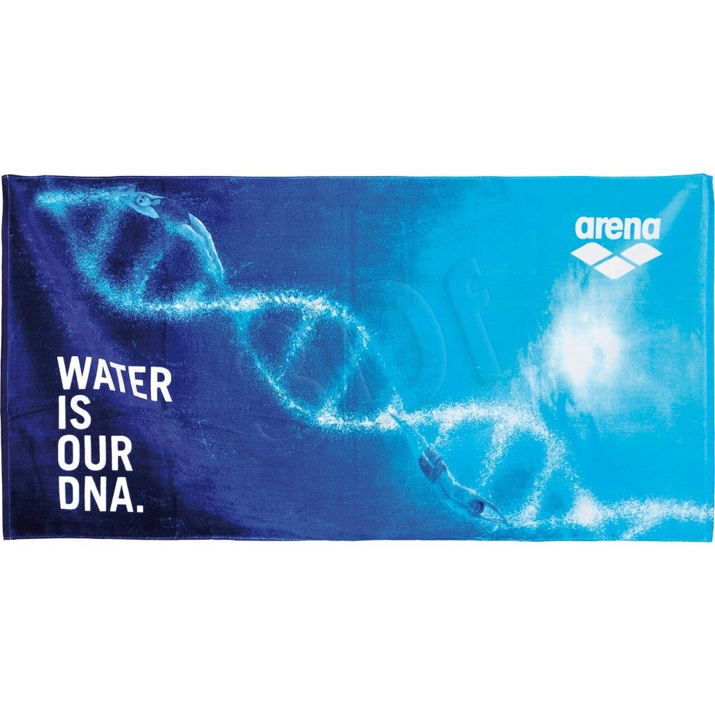 Towel Arena Manifesto Towel (OUR DNA) 000885/805 (75x150 cm; blue color) 000885/805
