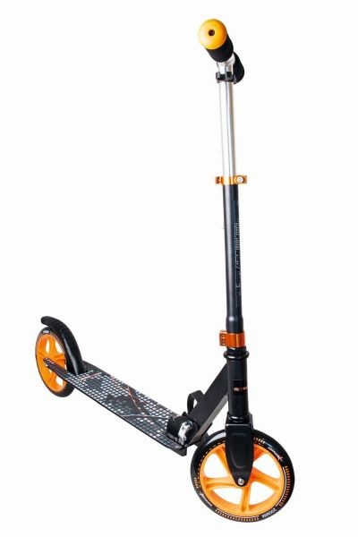 Muuwmi Aluminium Scooter skrejritenis 200 mm, melns/oranžs AU 116 Skrejriteņi