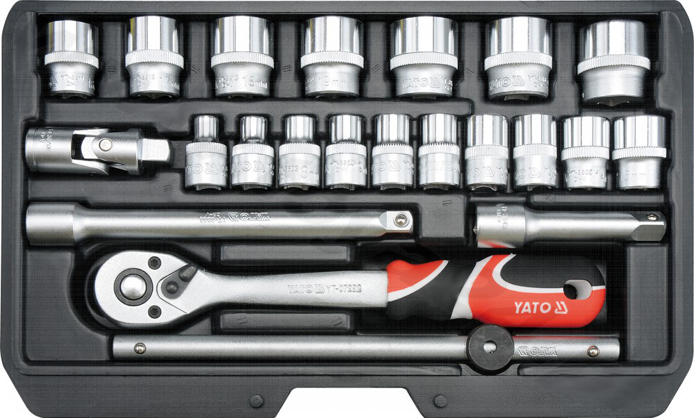 Yato Set of socket wrenches 3/8