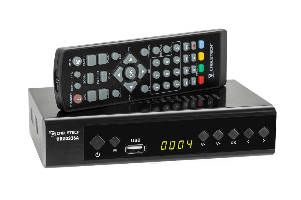 LECHPOL Digital Tuner DVB-T2 H.265 HEVC LANCabletech uztvērējs