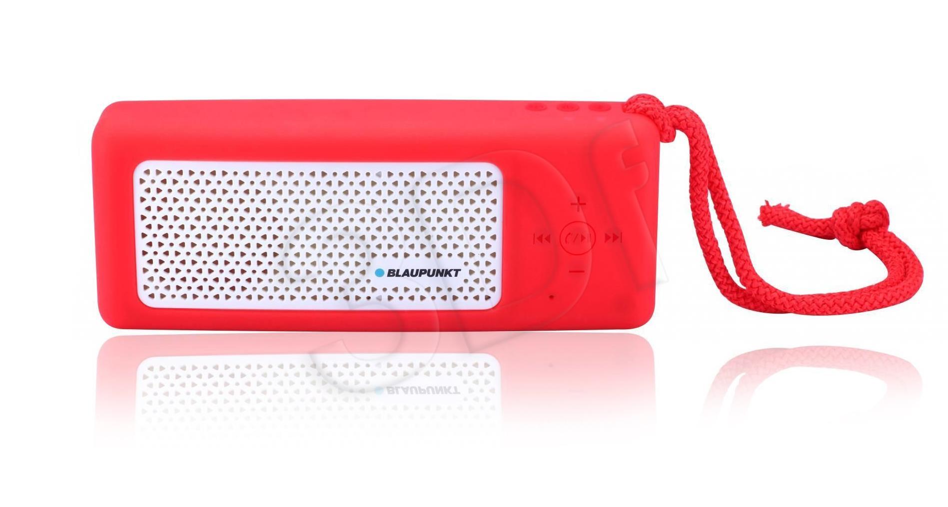 blaupunkt Portable bluetooth speaker BTS10RD, FM PLL/SD/USB/AUX, PowerBank, red datoru skaļruņi