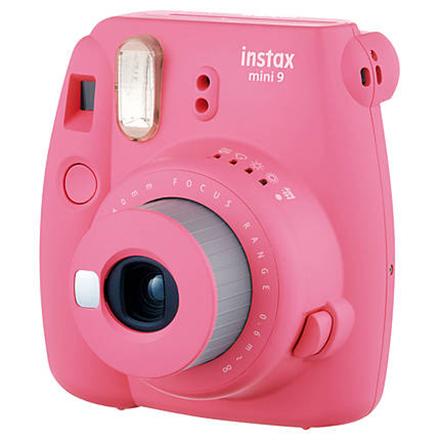 Fujifilm Instax Mini 9 + Instax mini glossy (10) Compact camera, Focus 0.6m - ∞, Flamingo Pink Digitālā kamera