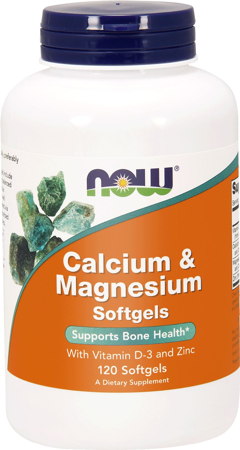 NOW Foods Calcium & magnesium with the addition of vitamin D 120 capsules