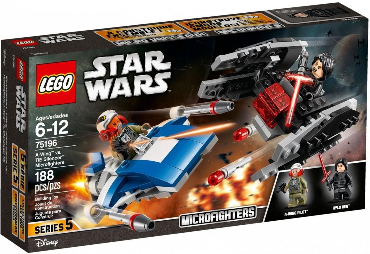 LEGO Star Wars 75196  A-Wing vs. TIE Silencer Microfighters LEGO konstruktors