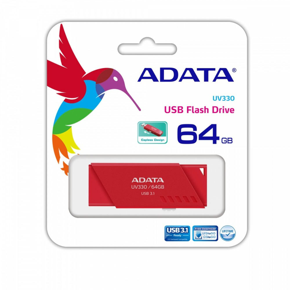 UV330 64GB USB3.1 Red USB Flash atmiņa