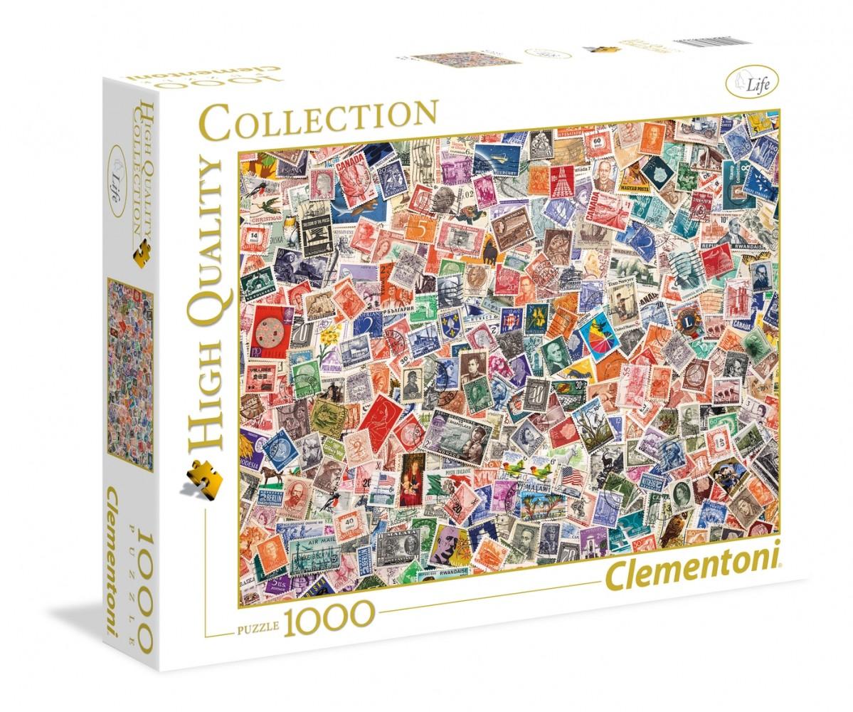 Clementoni 1000 Elements Stamps puzle, puzzle