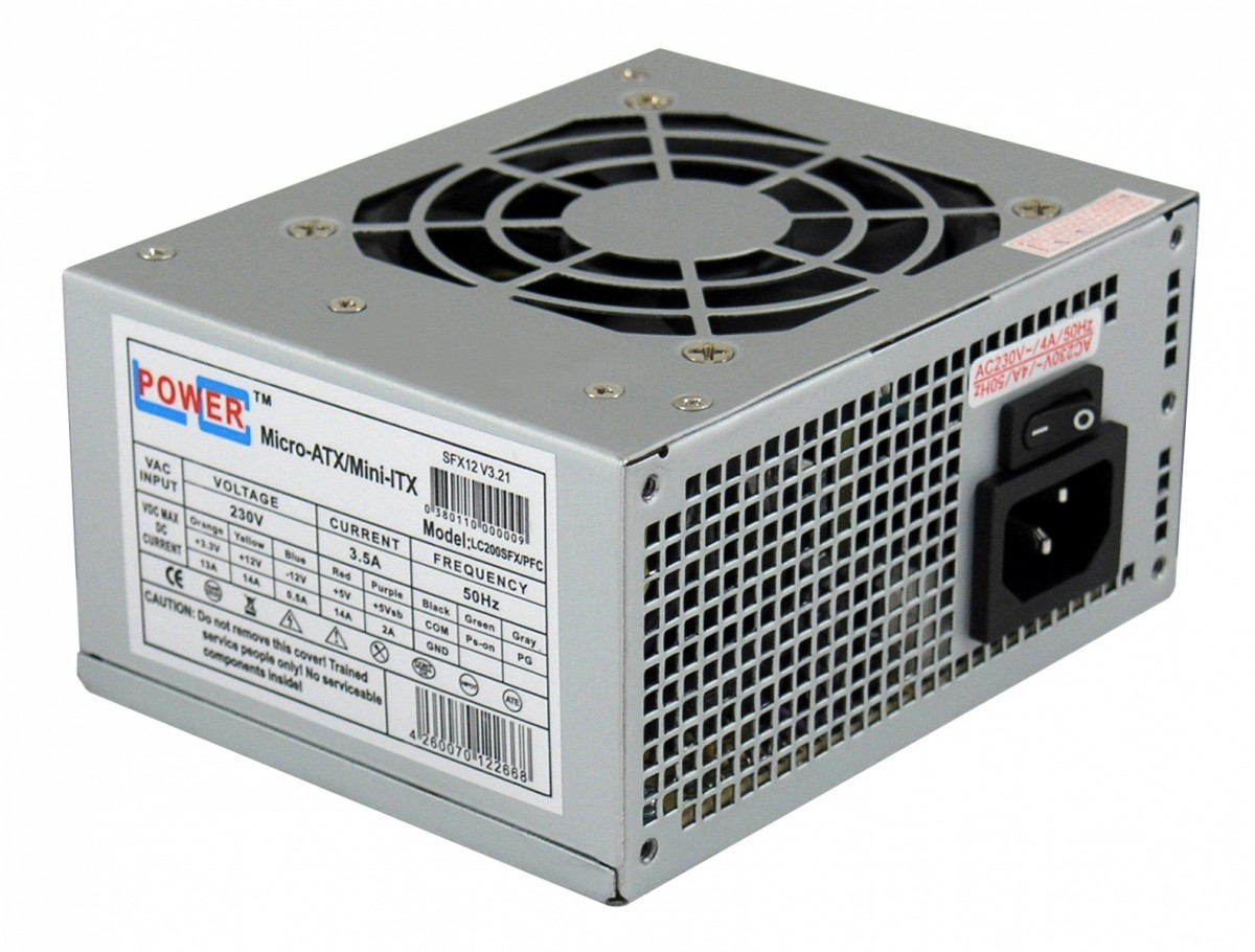 PSU LC-POWER 200W  LC200SFX V3.21 SFX Barošanas bloks, PSU
