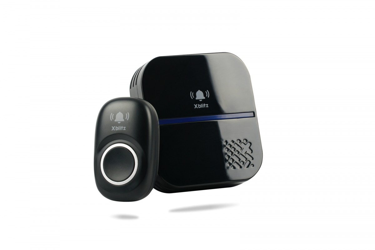 Kinetic black doorbell