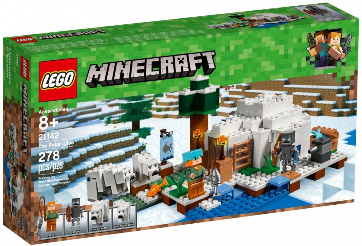 LEGO Minecraft 21142 The Polar Igloo LEGO konstruktors