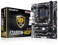 Gigabyte GA-F2A88XM-HD3P, A88X, DualDDR3-2133, SATA3, HDMI, DVI, D-Sub, mATX pamatplate, mātesplate