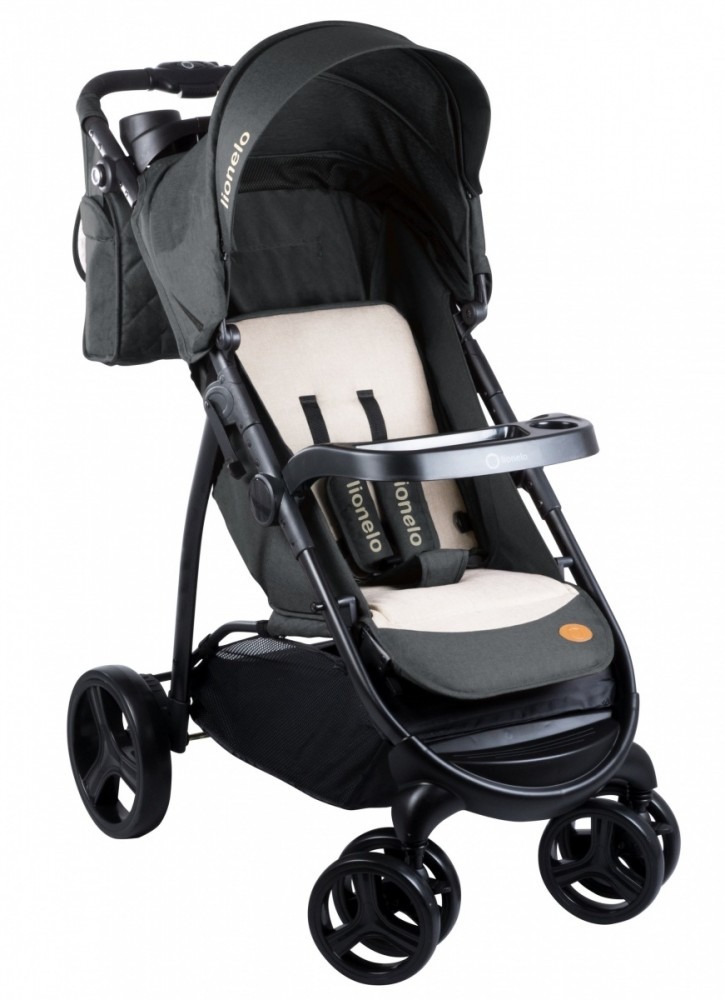 Lionelo Elise dark grey bērnu ratiņi