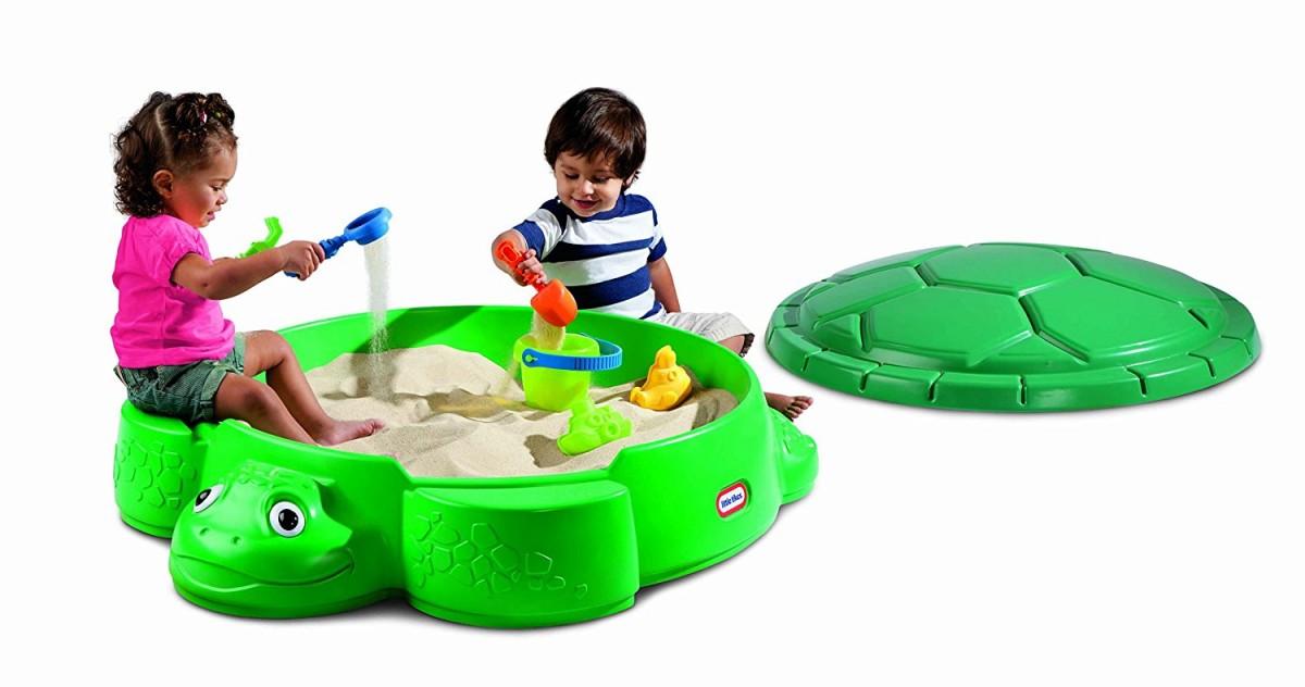 Little Tikes Turtle Sandbox green (smilšu kaste) Rotaļu mājas un slidkalniņi