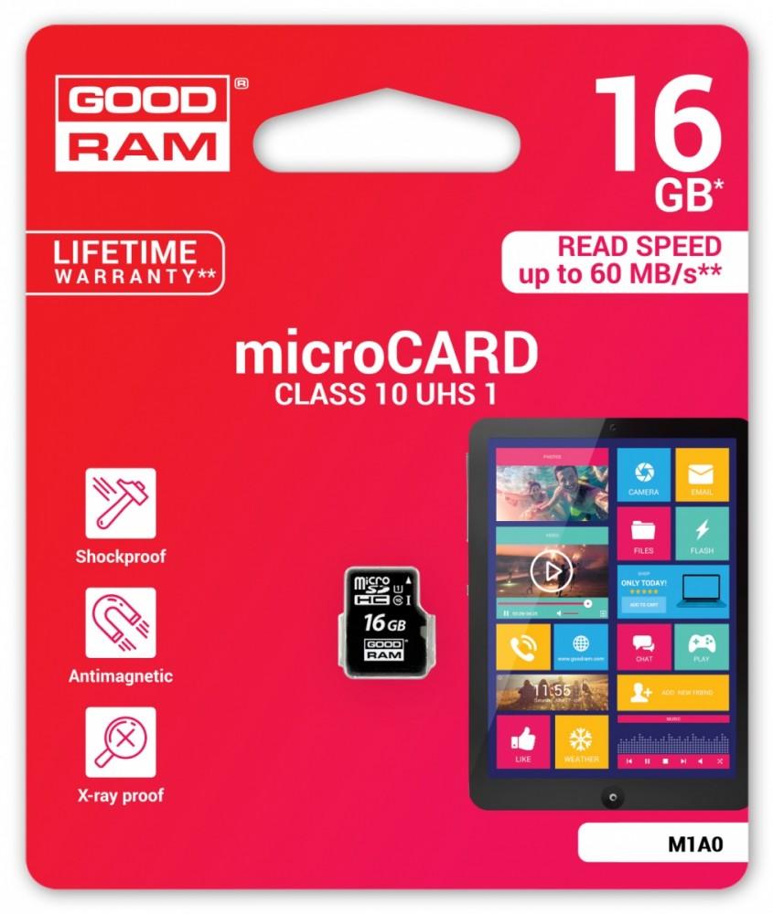 Goodram microSD 16GB    CL10 UHS-I atmiņas karte