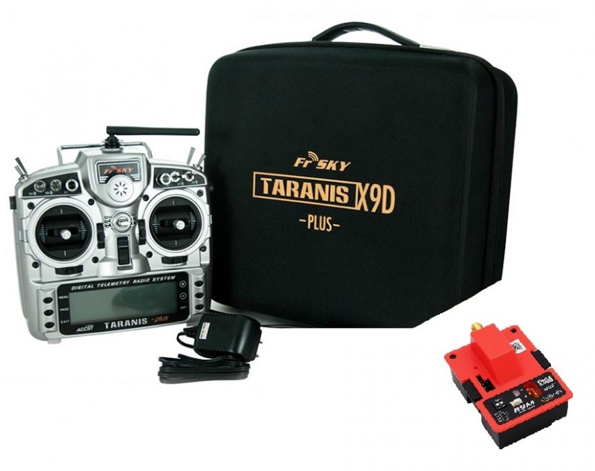 FrSky : Apparatus Taranis X9D Plus with telemetry + R9M module + EVA case