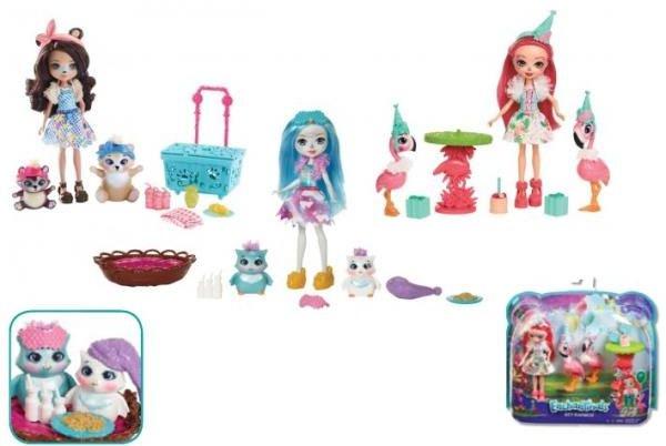 Mattel ENCHANTIMALS. Doll + animals (FCC62) bērnu rotaļlieta