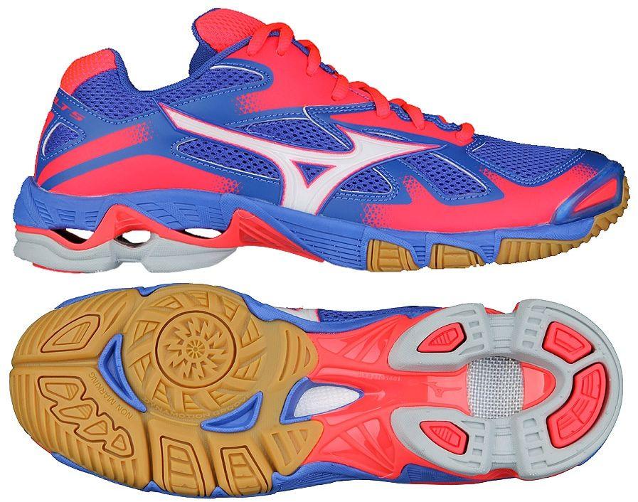 Mizuno Buty damskie Wave Bolt 5 niebiesko-czerwone r. 40.5 (V1GC166005) V1GC166005