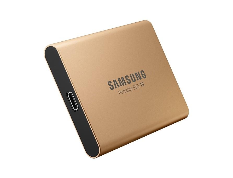 Samsung Portable SSD T5 500 GB Solid State Drive(gold, USB 3.1 Type-C Gen2) Ārējais cietais disks
