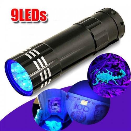 Parnesajamais  ultravioletas lampas lampas lukturitis 9LED UV kabatas lukturis