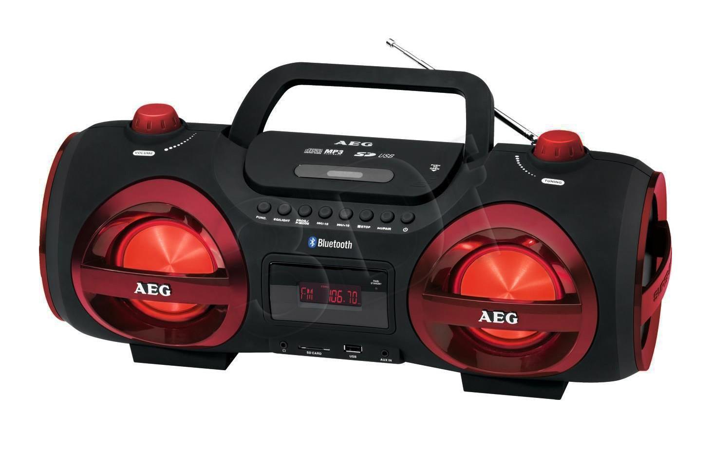 AEG SR 4359 Black-red mūzikas centrs