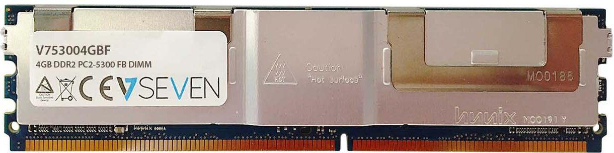 Pamiec serwerowa V7 FB DIMM DDR2, 4GB, 667MHz, CL5  (V753004GBF) V753004GBF