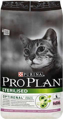 Purina Pro Plan Sterillised Indyk 10kg kaķu barība