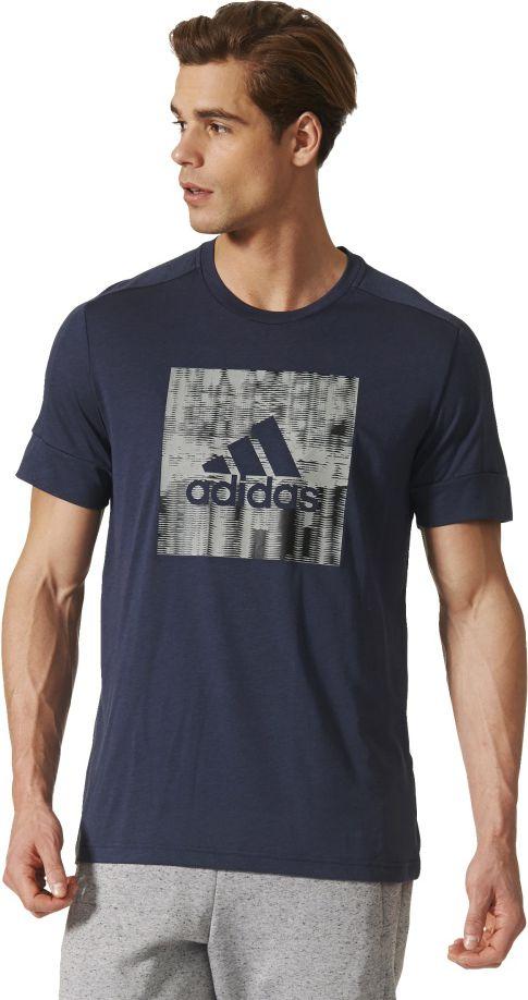 Adidas Koszulka meska ID Flash Tee granatowa r. S (BS2203) BS2203